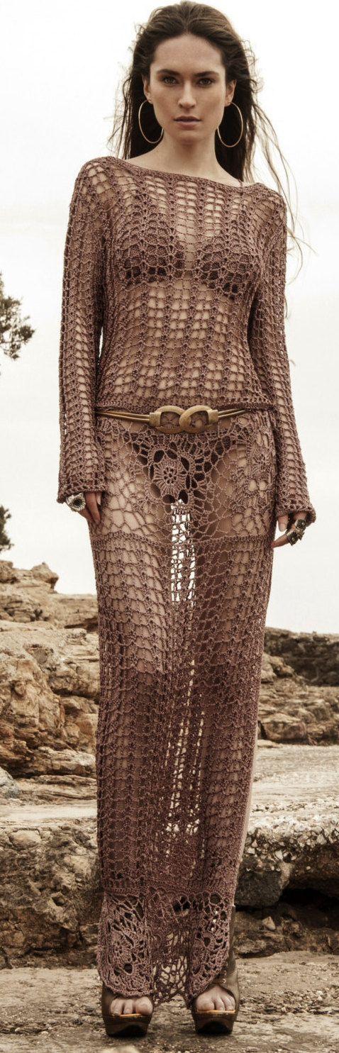 crochet maxi dress by SadhByEleftheria on Etsy