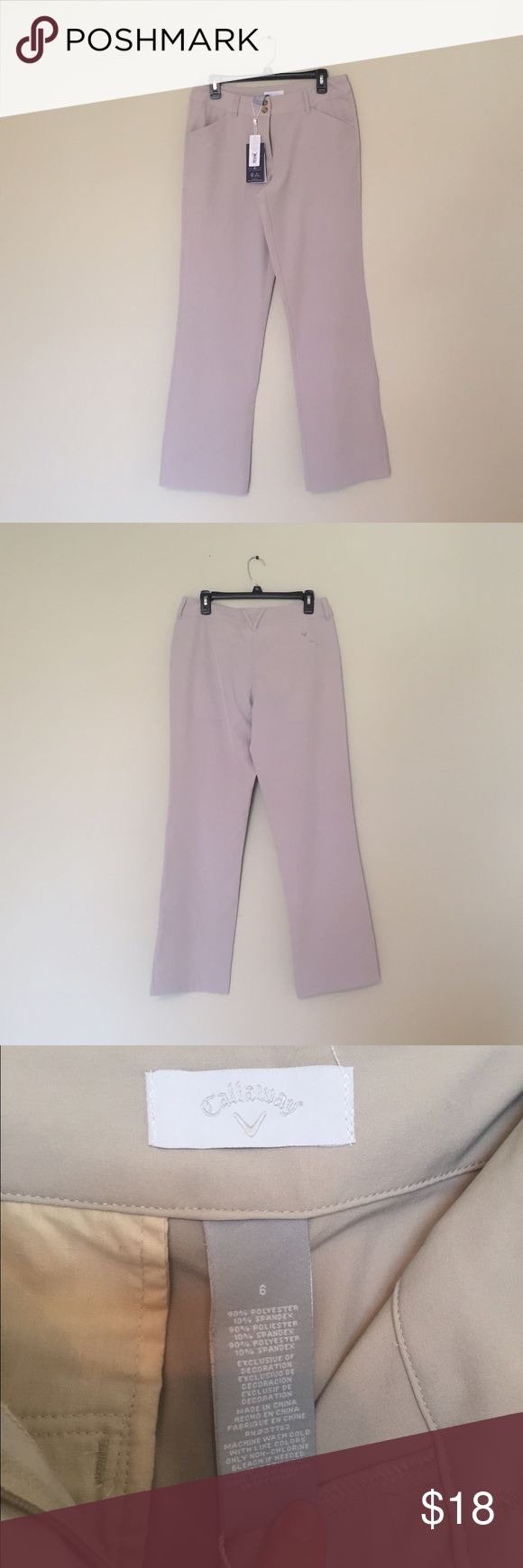 ⚡CLOSET SALE⚡️Callaway Dress Pants These are NWT and are perfect for any occasion especially for work or dressy occasions. They are a great light cream color. Listed cheaper on Ⓜ with free shipping! Pants Trousers