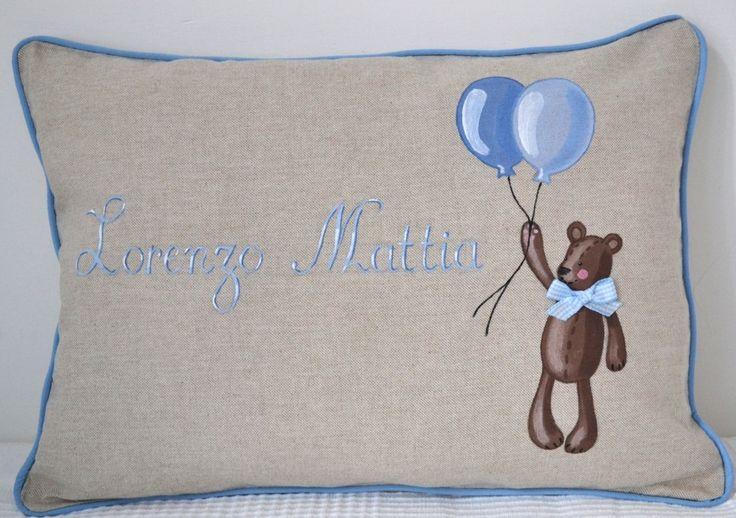 Cuscino orso con palloncino 2