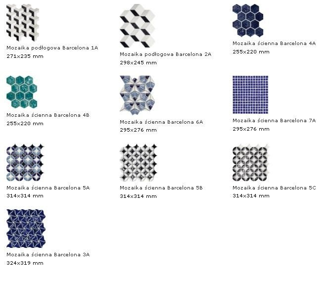 Produkt: Tubądzin kreacja Macieja Zienia - Mozaika ścienna Barcelona 5B 31,4x31,4 - Inwestycje hotelowe: meble, wyposażenie gastronomii
