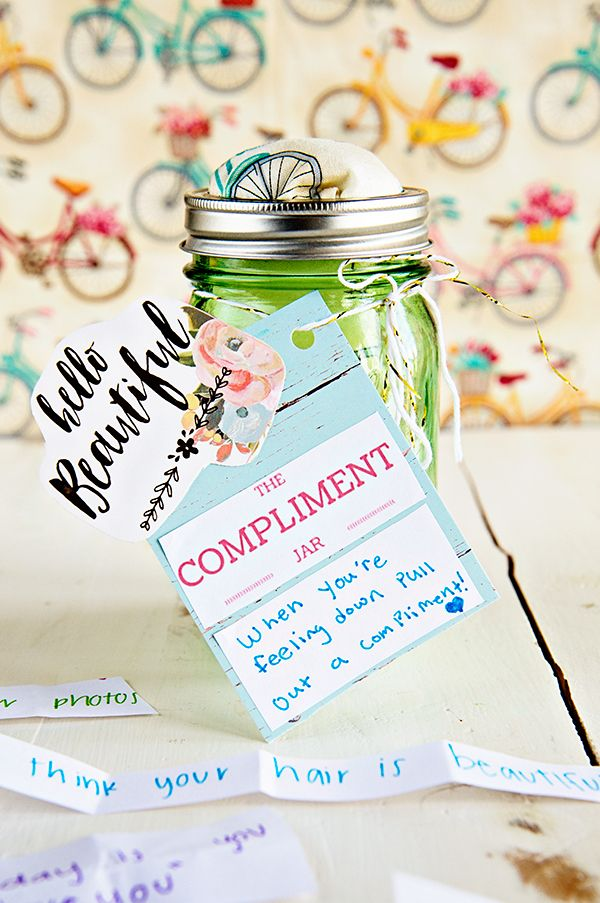 How to Make a Compliment Jar from theaboutwhatblog.com