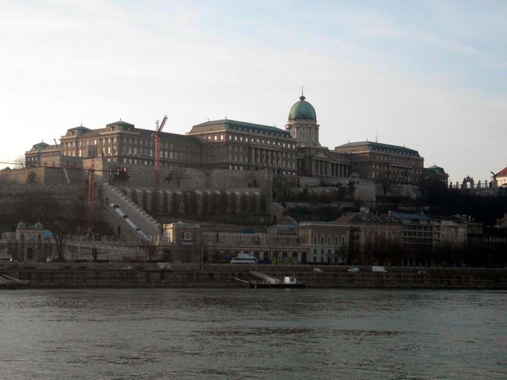 Budavári Palota. Buda Castle seen from the Pest side.