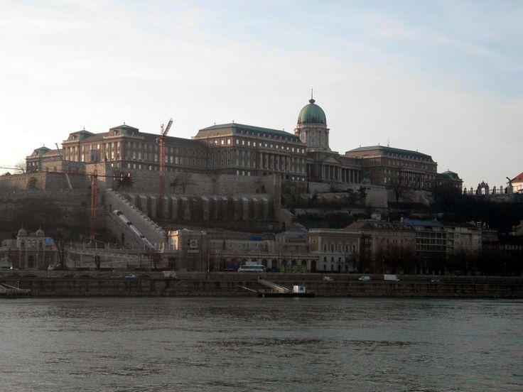 Budavári Palota. Buda Castle seen from the Pest side.