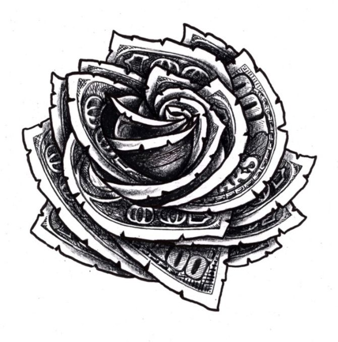 10 Dollar Sign Tattoo Design