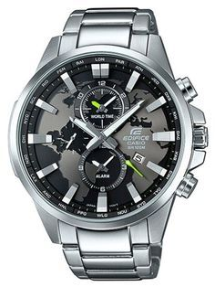 Relógio CASIO EDIFICE WORLD MAP - EFR-303D-1AVUEF