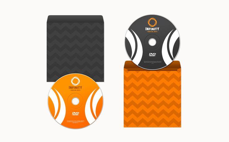 Dvd package design. Infinity Martial Arts Logo & Identity Design on Behance by graphic designer & illustrator Catherine Uvarova. #branding #tshirt #inspiration #corporate #visual #identity #logo #martial #art #design #black #orange #tangerine #mobius
