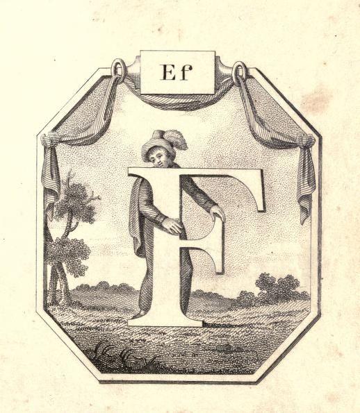 Ef F Vintage Childrens ABC Flash Card