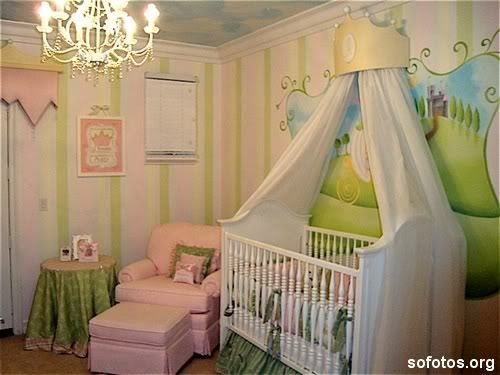 Quarto de bebe feminino decorado