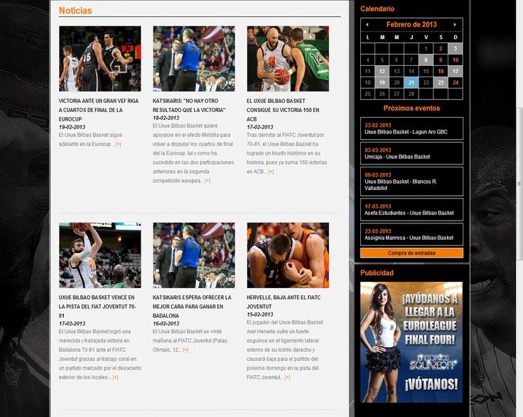 Imagen de la sección noticias de la web de Bilbaobasket.biz.