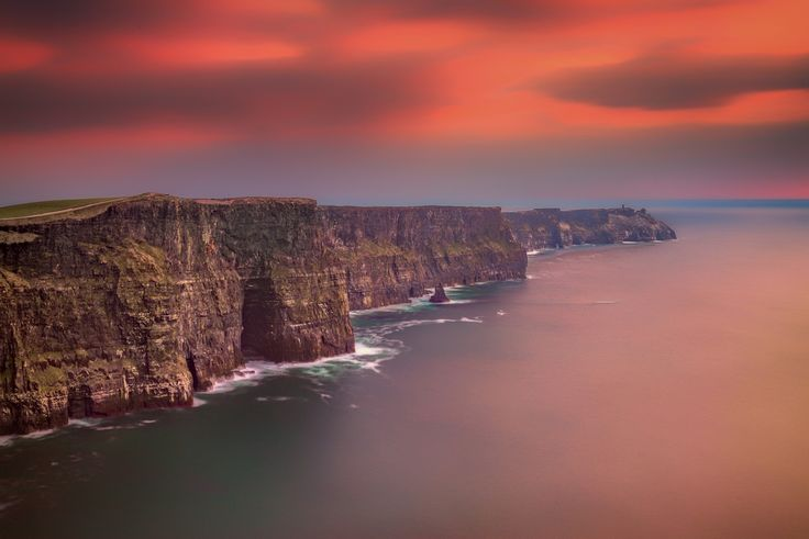 The Cliffs of Moher at Sunset... Ireland is so beautiful!