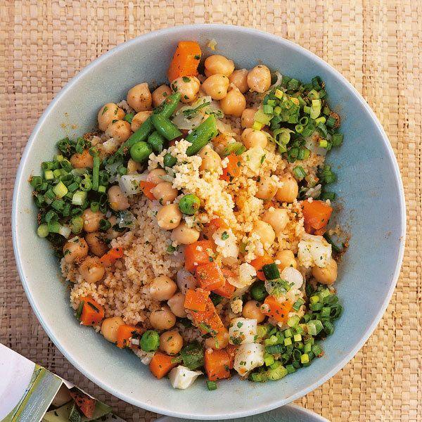 Gemüse-Couscous mit Kichererbsen
