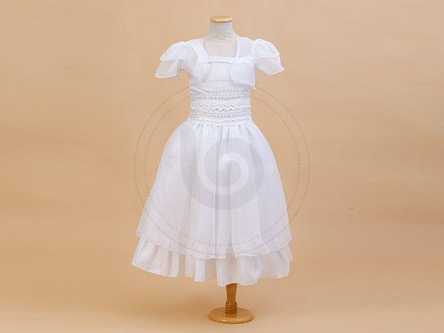 SOLERA C/ DOBLE FAJA DE BRODERIE Y STRASS EN CINTURA  C/C Children Dior #Comunion #vestidos #nena
