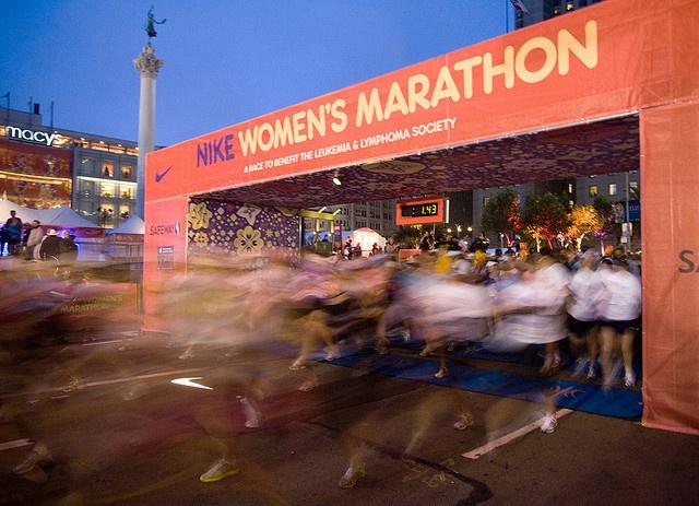 Nike Women's Marathon in San Francisco.