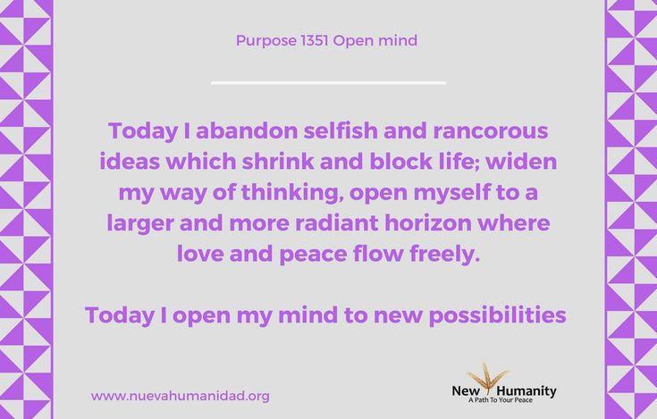 Purpose 1351 Open Mind