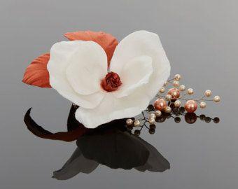 Wedding Fascinator  Bridal Fascinator  by CamelliaSilkFlowers