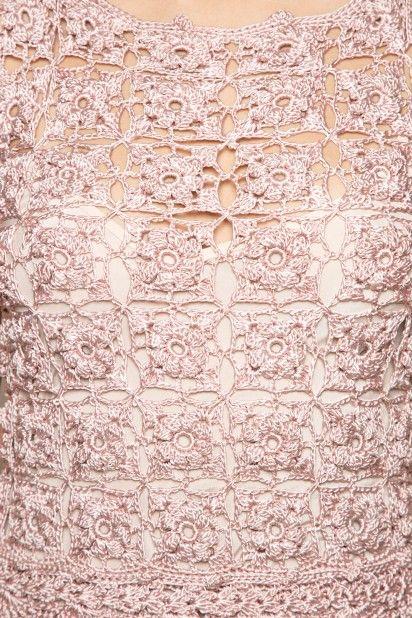 Sand Nomadic Crochet Dress - Vanessa Montoro USA - vanessamontorolojausa