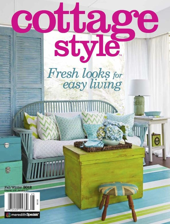 Shabbyfufu home featured in cottage style magazine for Cottage home magazine