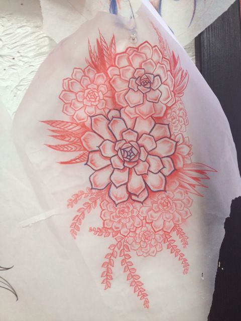 black and white succulent tattoo - Google Search
