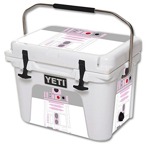 MightySkins Protective Vinyl Skin Decal for YETI Roadie 20 qt Cooler wrap cover sticker skins Pink Cyber Bot -- Continue to the product at the image link.(This is an Amazon affiliate link and I receive a commission for the sales)