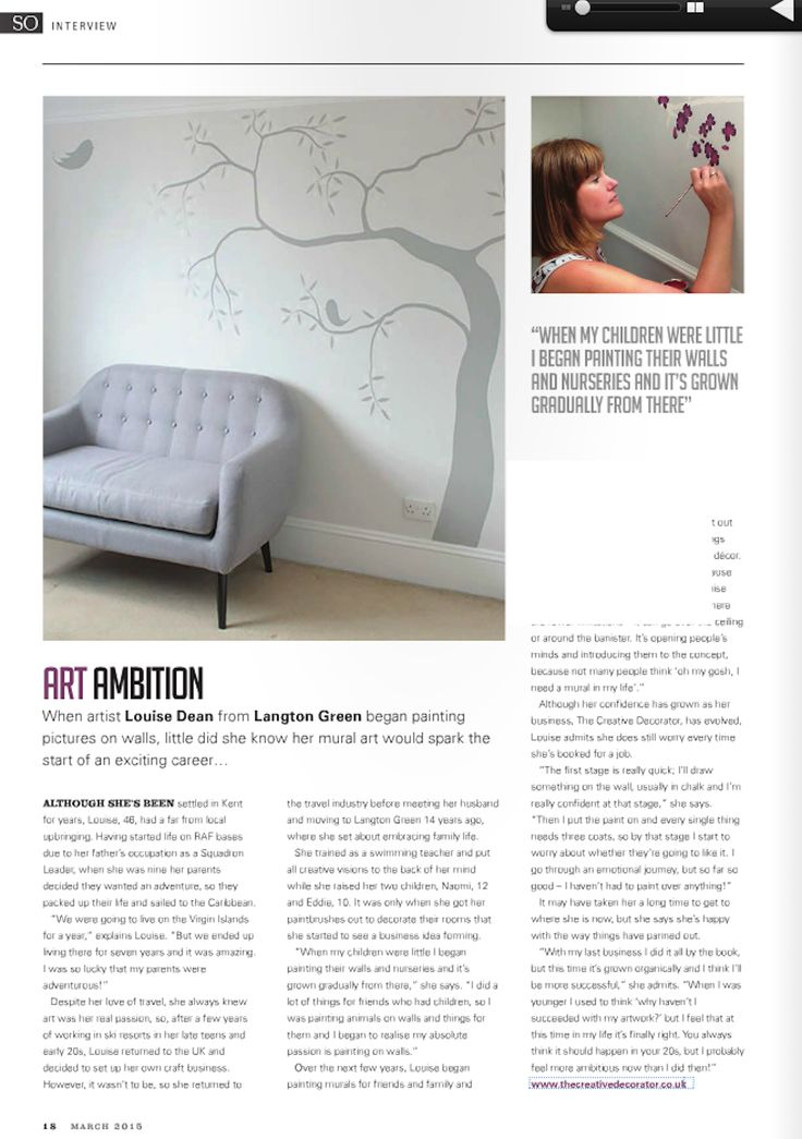 A feature about my mural painting in So Tunbridge Wells - March 2015