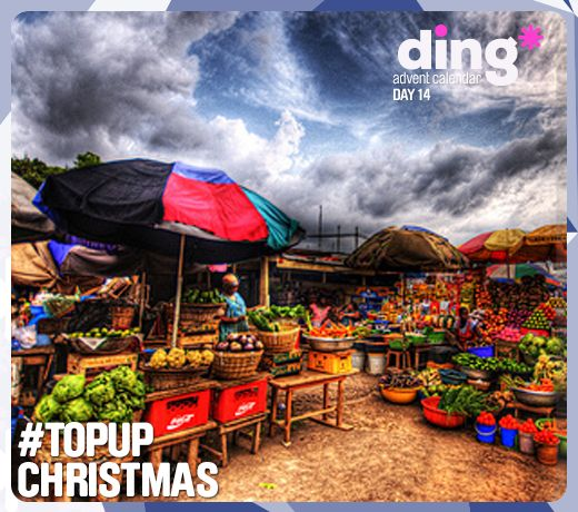 Did you know in Ghana, traditional Christmas food includes stew or okra soup, porridge and meats rice and a yam paste called 'fufu'! - #dingworld  What tasty treats will you enjoy this Christmas?  www.ding.com