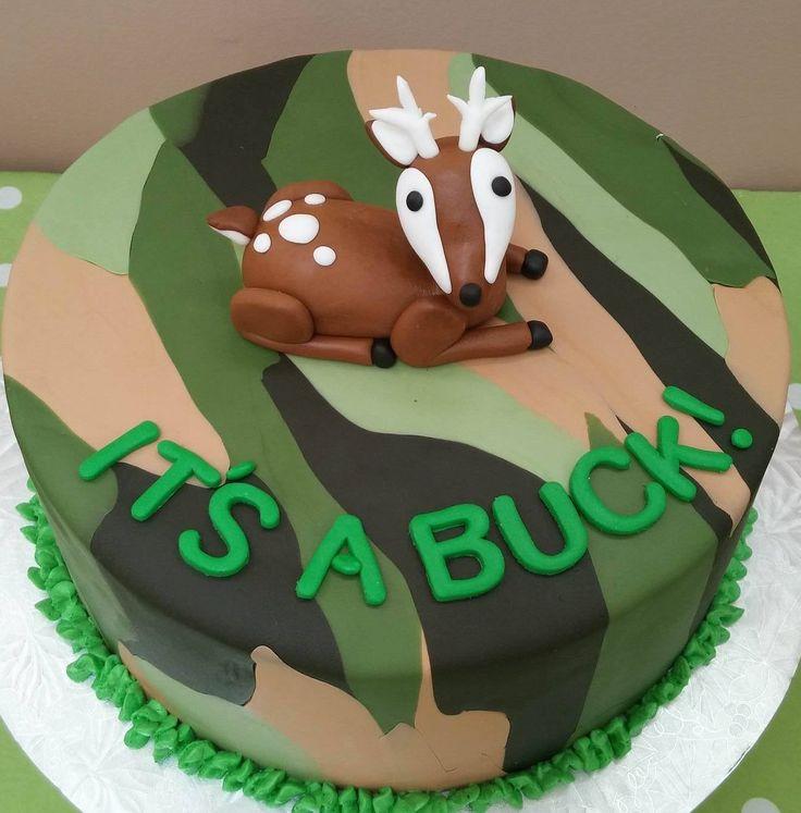 Camo baby shower cake!                                                       …