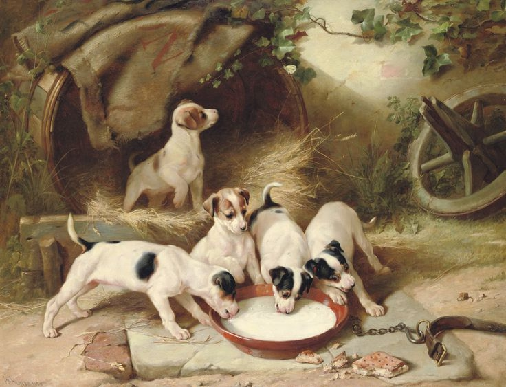 File:Walter Hunt Puppies' breakfast 1885.jpg