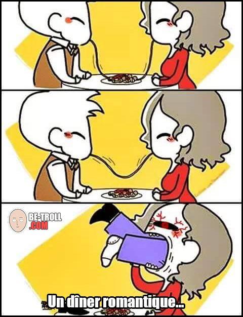 Un dîner romantique ! - Be-troll - vidéos humour, actualité insolite