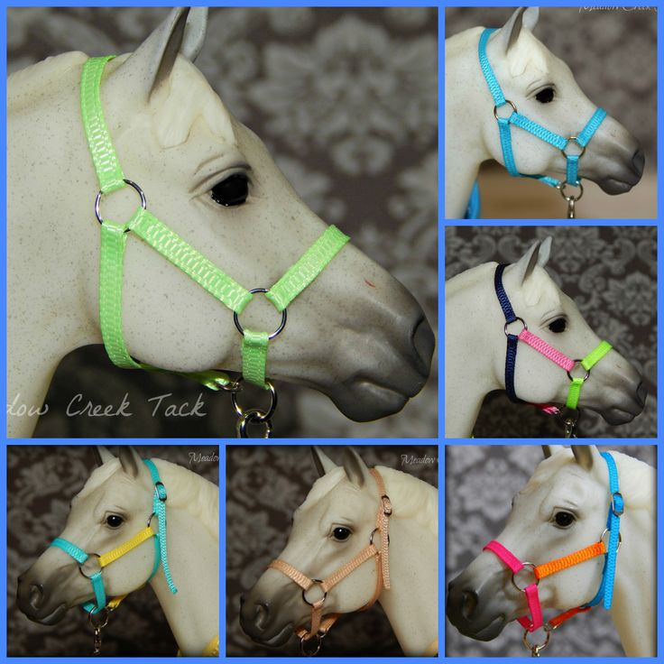 Model Horse Halters - Breyer Horse Nylon Halters - Model Horse Tack