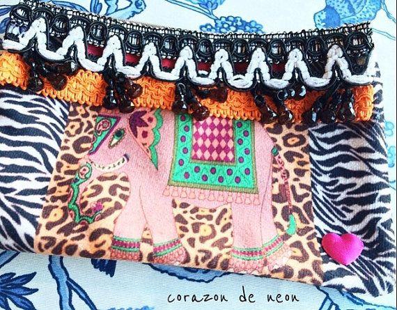 Embellished bag by corazondeneon on Etsy