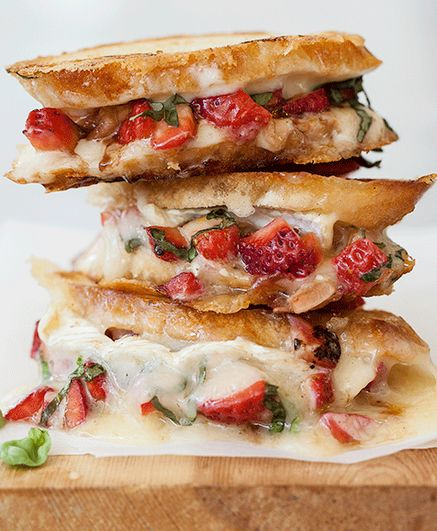 Strawberry Bruschetta Grilled Cheese by Foodiecrush