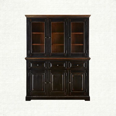 Toulon buffet with hutch in toasted auburn arhaus for Arhaus furniture
