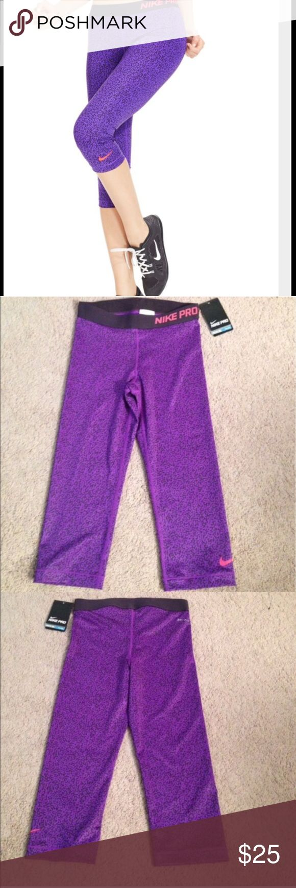 Nike Pro Capri.. Nike Pro Capri..   Brand new never been used Tags still attached Made of 80% polyester 20% spandex Nike Pants Capris