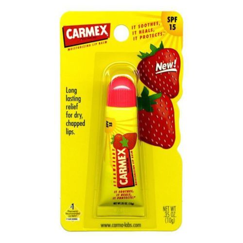 #Carmex Strawberry Lip Balm Tube 10g