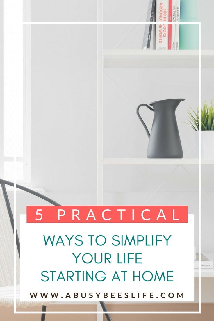 Simplify your life with these five easy and practical tips. There are many ways to do so, why not begin with your home? Click through to start implementing these tips today! via @abusybeeslife