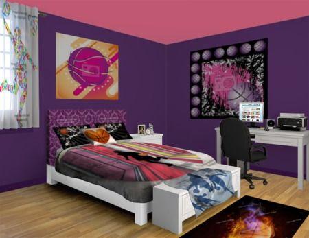 36 best teen bedroom designs images on pinterest bedroom for Basketball bedroom ideas