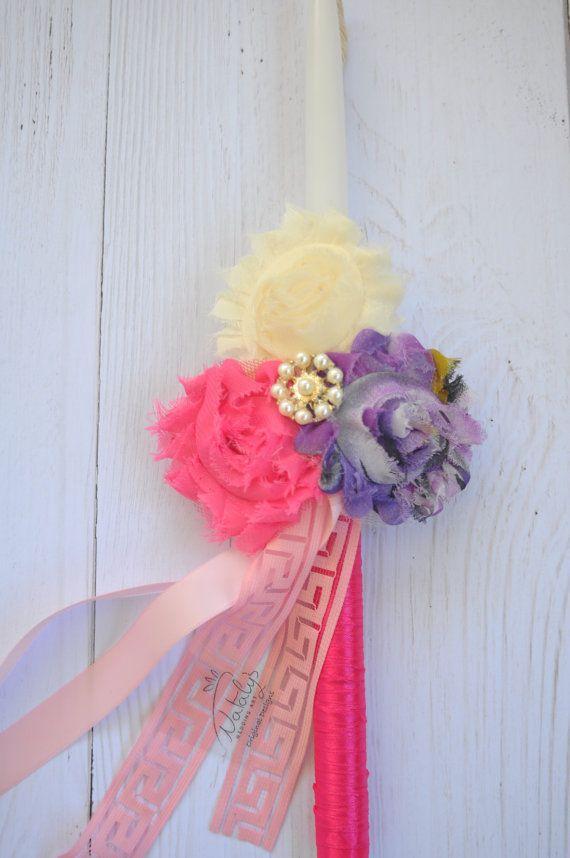 Greek Easter candle Girl Gift Headband Orthodox Easter by NatalysWeddingArt