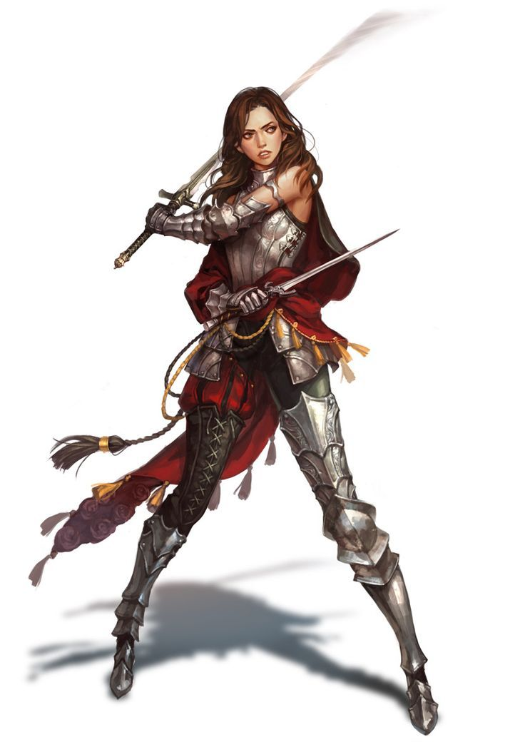El arte de la fantasía--Una espadachina supermolona