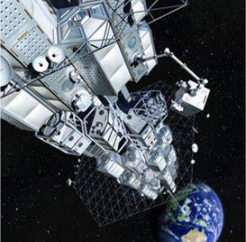 大林組プロジェクト「宇宙エレベーター建設構想」。 静止軌道ステーションは宇宙で膨張するユニットで構成されます。