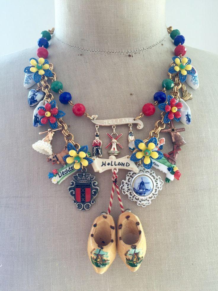 Statement Toy Necklace Dutch Vintage Charm Dutch by rebecca3030