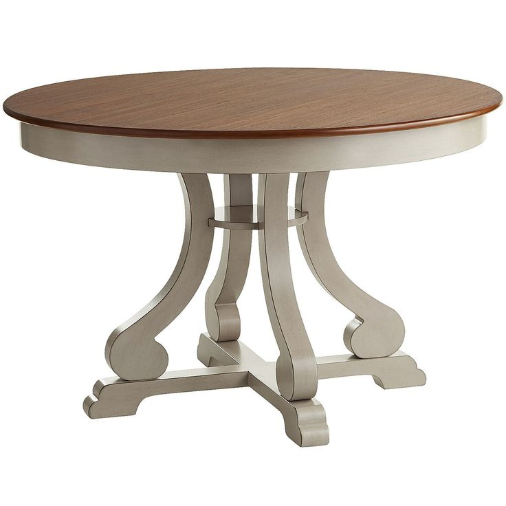 Marchella Linen Gray Round Dining Table | Pier 1 Imports