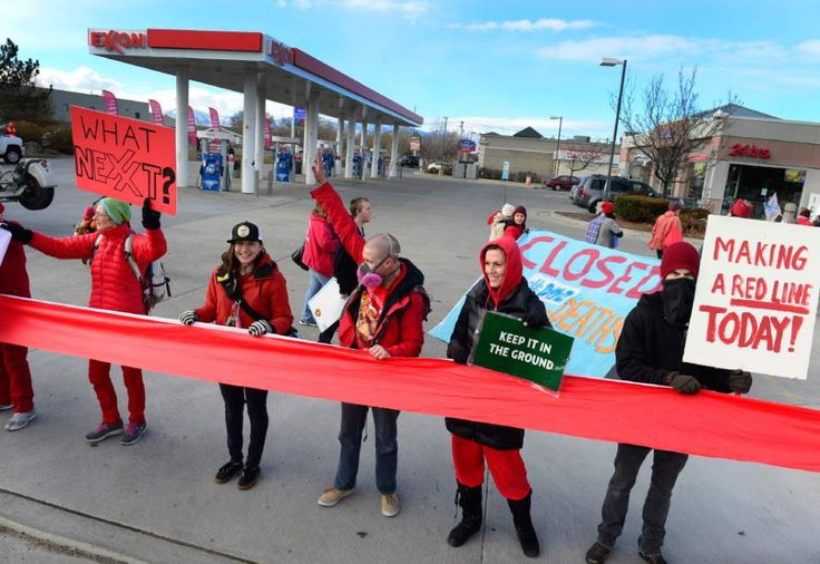 Utah climate activists shut down gas station, call for investigation of Exxon