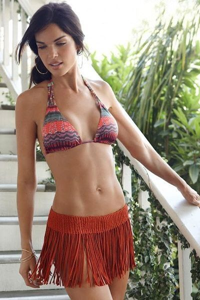 Sexy Hot Bohemian Style Crochet Fringe Skirt Bottom Beach Swimsuit Cover Up 4 Colors One Size