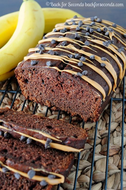 Chocolate Peanut Butter Banana Bread on MyRecipeMagic.com