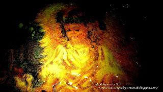 Sutasz-Moje Hobby czyli Kolorowy Świat Gochy: Serwetnik z Aniołkiem