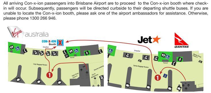 Brisbane Domestic Airport arrival procedure