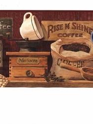 Coffee Wallpaper Border 14.99 Kitchen redo Pinterest