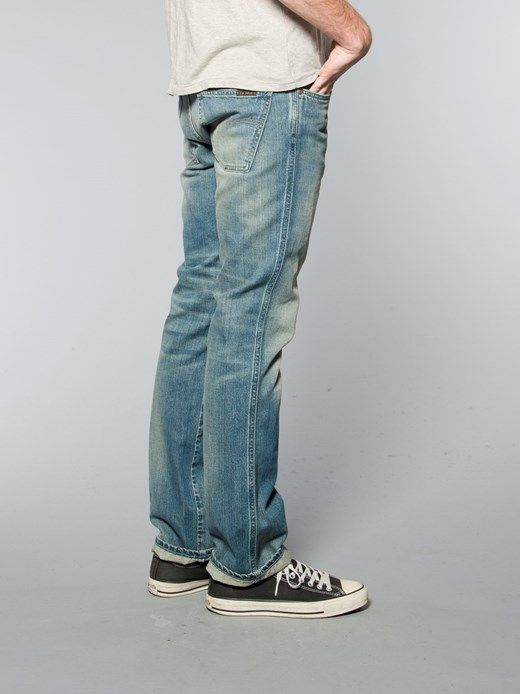 Slim Jim Organic Broken Green - Nudie Jeans Co Online Shop