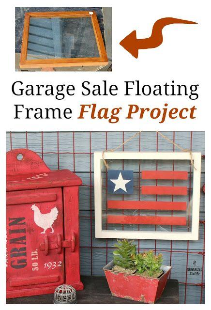 Garage Sale Floating Frame Patriotic Flag Project
