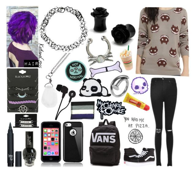 """Style #534"" by katlanacross ❤ liked on Polyvore featuring Cartoon Network, Topshop, Vans, Forever 21, Skullcandy, GAS Jeans, Tom Binns and Carmex"